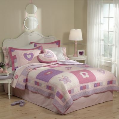 Spring Hearts Twin Quilt Set