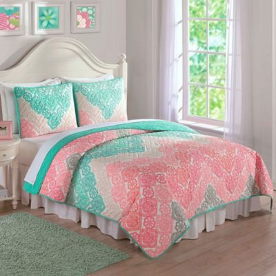 Antique Chevron Twin Quilt Set