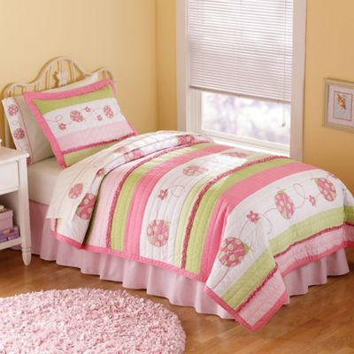 Green Pink Bedding Full