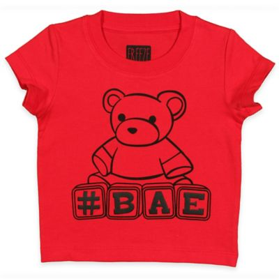 """FREEZE Size 18M """"#BAE"""" Short-Sleeve Shirt in Red"""