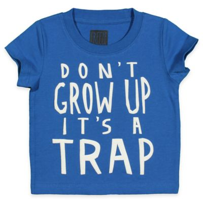 """FREEZE Size 12M """"Don't Grow Up It's A Trap"""" Shirt in Royal Blue"""