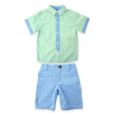 Multi Tie and Chambray Set