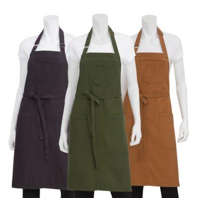 Chef Works® Rockford Canvas Bib Apron in Nutmeg