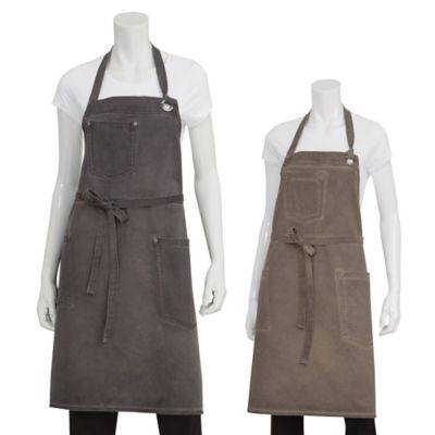 Chef Works® Antique Washed Dorset Bib Apron in Pewter