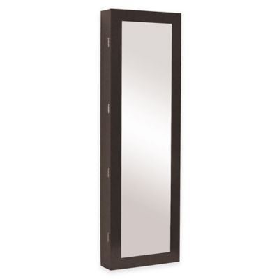 Baxton Studio Clarissa Reflections Jewelry Armoire in Brown