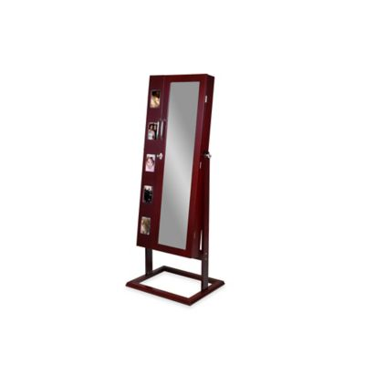 Vittoria Standing Jewelry Armoire in Brown