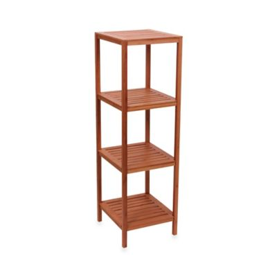 Household Essentials® 4-Shelf Bamboo Cube Tower in Natural