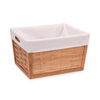 Household Essentials® Bamboo Woven Basket with Liner in Natural