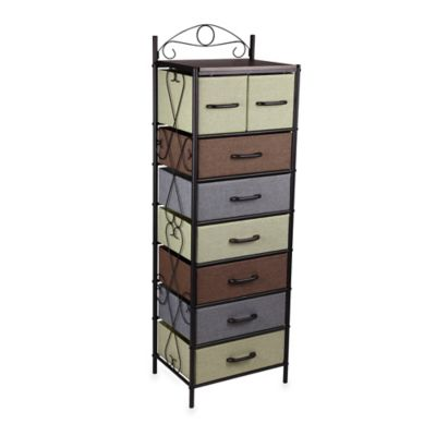 Household Essentials® 8-Drawer Tower in Black