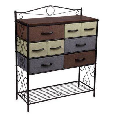 Household Essentials® 8-Drawer Chest with Shelf in Black