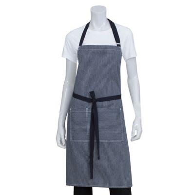 Chef Works® Striped Portland Bib Apron in Indigo Blue