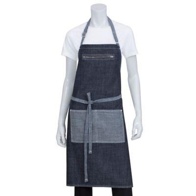 Chef Works® Manhattan Denim Bib Apron in Blue