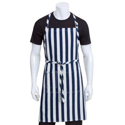 Chef Works® Striped Chesapeake Bib Apron in Blue/White