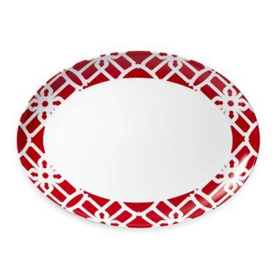 B by Brandie™ Truman Oval Platter in Red