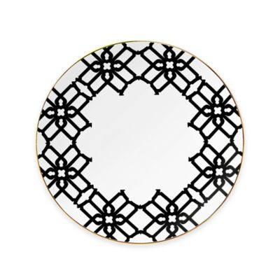 B by Brandie™ Grande Truman Salad Plate in Black/Gold