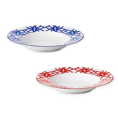 Gray Rimmed Bowl