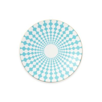 B by Brandie™ Grande Zelda Bread and Butter Plate in Turquoise/Gold