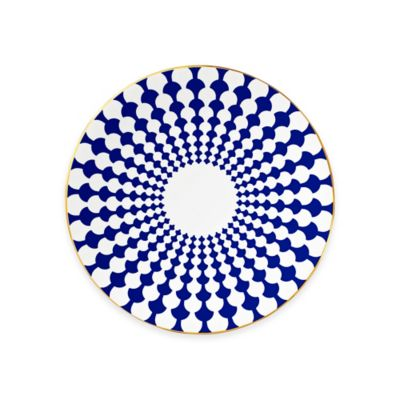 B by Brandie™ Grande Zelda Salad Plate in Navy/Gold