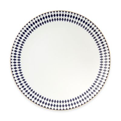 B by Brandie™ Grande Hutton Dinner Plate in Navy/Gold