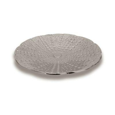 Simplydesignz Coastal Collection Dendraster Platter in Nickel