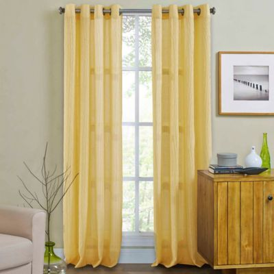 Weston 63-Inch Grommet Top Window Curtain Panel in Gold