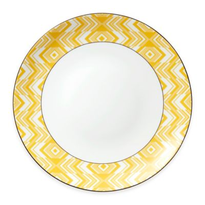 Yellow White Plates