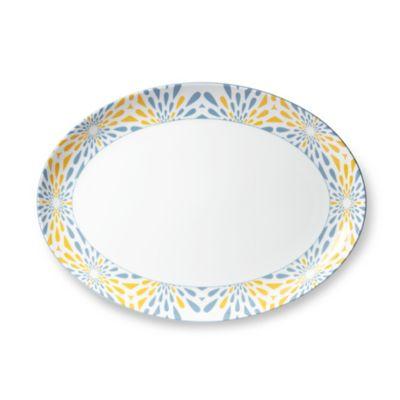 B by Brandie™ Frazier Oval Platter in Yellow/Grey