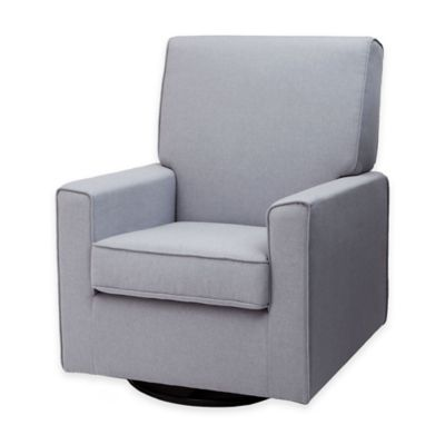 Delta™ Eva Upholstered Glider in Heather Grey