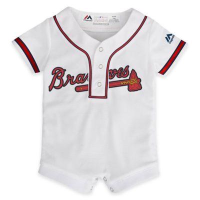 MLB Atlanta Braves Newborn Jersey Romper