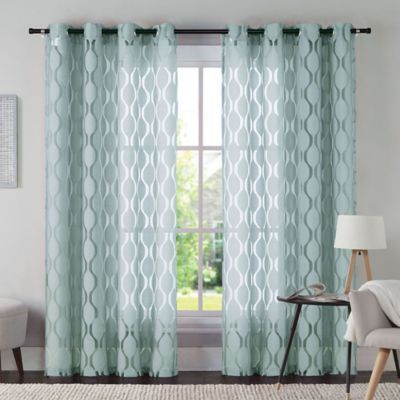 Aria 108-inch Window Curtain Panel in Taupe