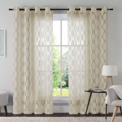 Taupe Ivory Window Panel