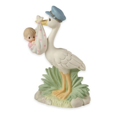 Precious Moments® Love is on its Way Stork with Girl Figurine
