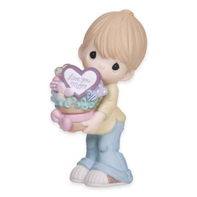 "Precious Moments® "" Love You Mom"" Boy with Cookie Bouquet Figurine"