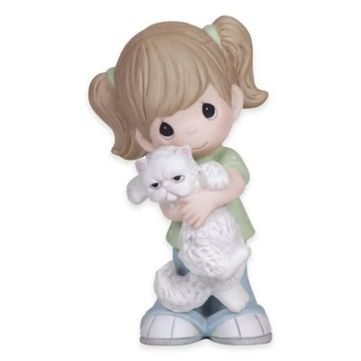 Precious Moments® Everybody Needs a Hug Girl with Cat Figurine