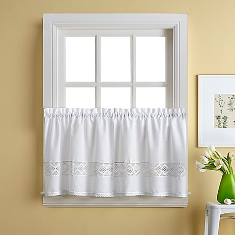 Buy Kendra 36 Inch Window Curtain Tier Pair From Bed Bath Beyond