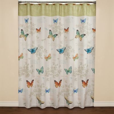 Butterfly Bliss Fabric Shower Curtain
