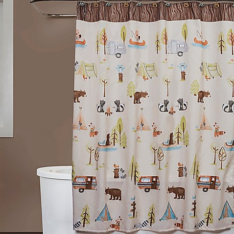 Camping Critters Fabric Shower Curtain Bed Bath Amp Beyond