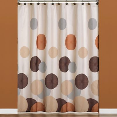 Dots and Rings Shower Curtain