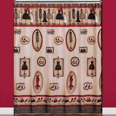 Fashion Passion Fabric Shower Curtain