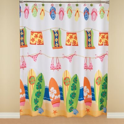 Hanging Loose Fabric Shower Curtain