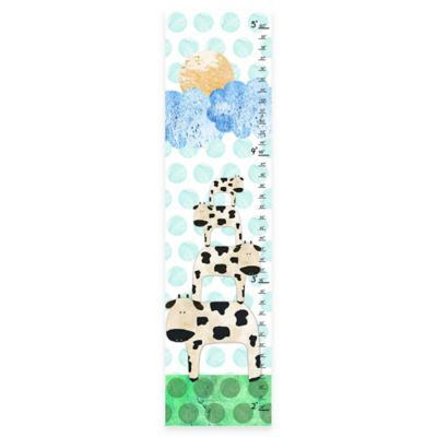 Green Leaf Art Stacked Cows II Growth Chart