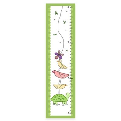Green Leaf Art Turtle and Birds Growth Chart