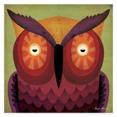 Green Leaf Art WOW Owl Canvas Wall Art