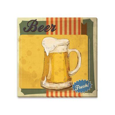 Fresh Beer Canvas Wall Art