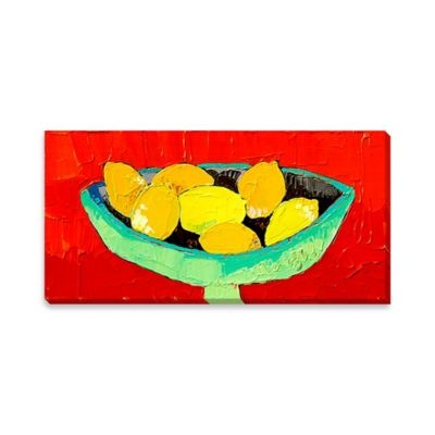 Bowl of Lemons Canvas Wall Art