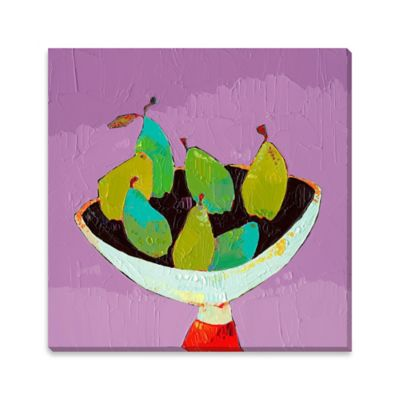 Bowl of Pears Canvas Wall Art