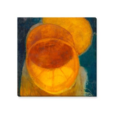 Citrus Eclipse Canvas Wall Art