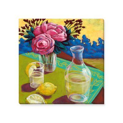 Susan Webster Lemon Water Canvas Wall Art