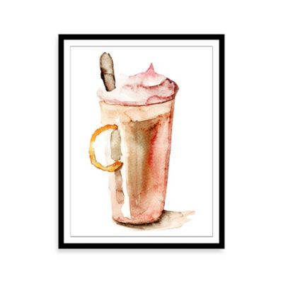 Watercolor Coffee Framed Print Wall Art