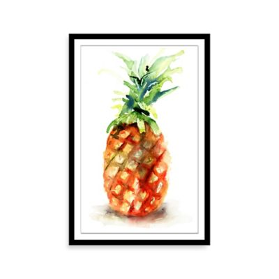 Watercolor Pineapple Framed Print Wall Art